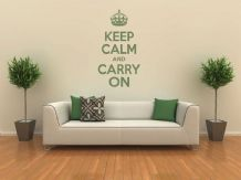 Keep Calm and Carry On Wall Art Quote, Wall Sticker, Modern Decal Transfer